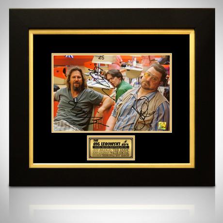 Big Lebowski // Jeff Bridges + Steve Buscemi + John Goodman Signed Photo // Custom Frame