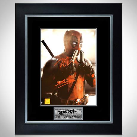 Deadpool // Ryan Reynolds + Stan Lee Signed Photo // Custom Frame