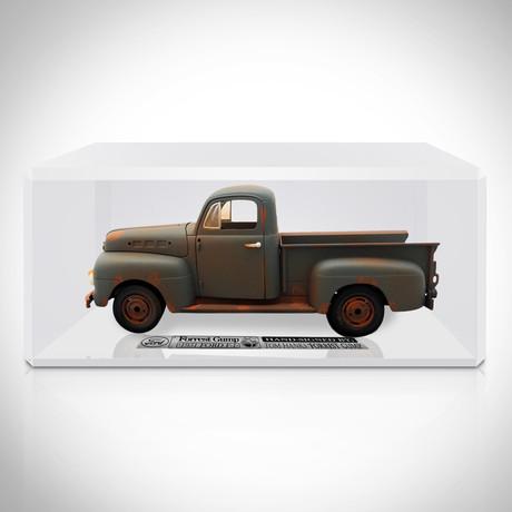 Forrest Gump // Tom Hanks Signed 1951 Ford F1 Die-Cast 1/18 // Custom Display