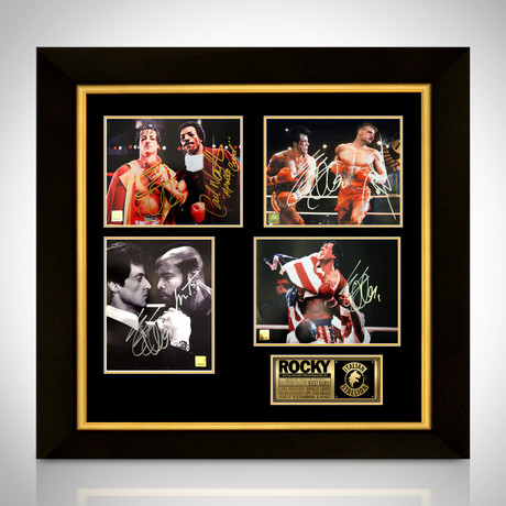 Rocky // Stallone + Creed + Drago Signed Photos // Custom Frame Set of 4