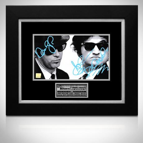 Saturday Night Live // Blues Brothers' Dan Aykroyd + John Belushi Signed Photo // Custom Frame