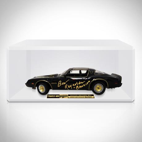 Smokey and The Bandit // Burt Reynolds Signed 1977 Pontiac Trans Am Die-Cast // Custom Display