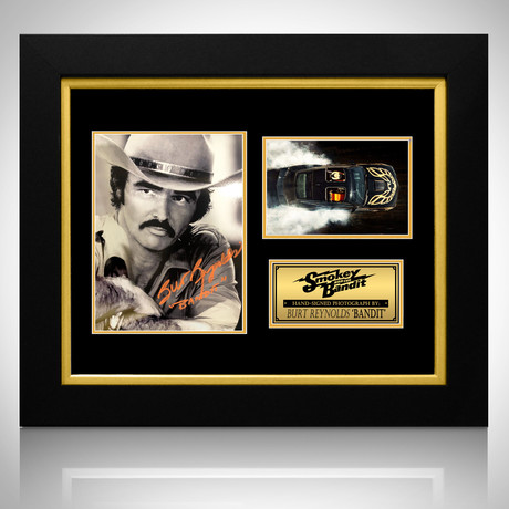 Smokey and The Bandit // Burt Reynolds Signed Photo // Custom Frame