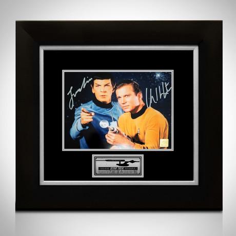 Star Trek // Captain Kirk + Spock Signed Photo // Custom Frame