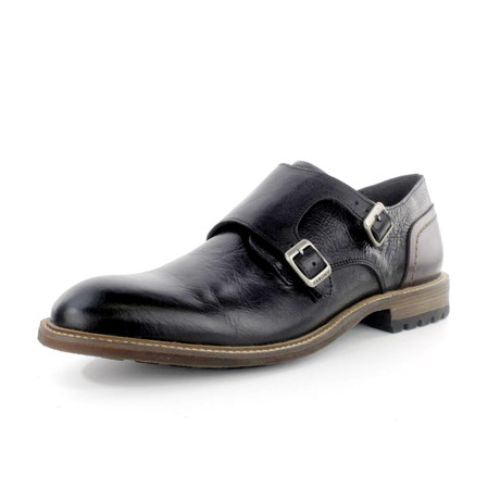 Thinker Monk Strap Shoe // Black (US: 7)