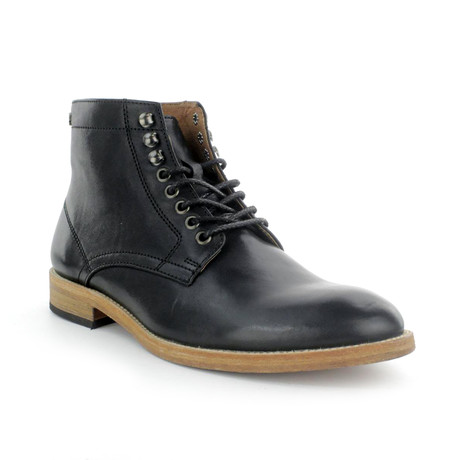 Ferreiro Plain Toe Leather Boot // Black (US: 7)