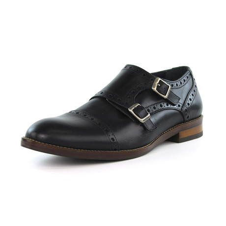 Fitipaldi Double Monk Strap // Black (US: 7)