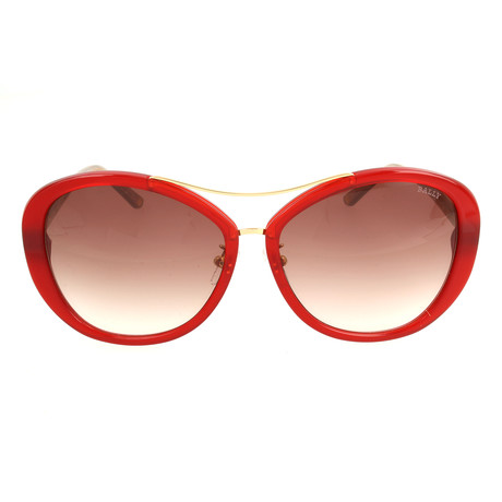 BY2063A04 Women's Sunglasses // Dark Red