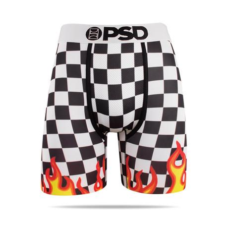 Checker Flames Underwear // White (S)