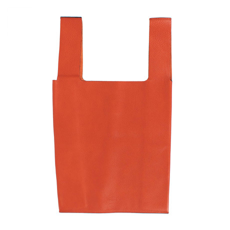 Pebbled Leather Bag // Orange