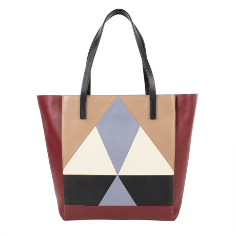 Leather Handbag Tote Bag // Multi-Color