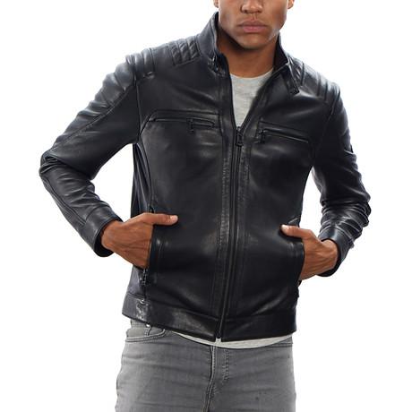 Robert Leather Jacket // Black (XL)