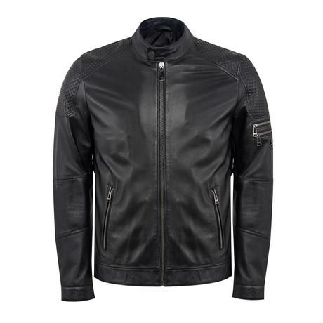 Dylan Leather Jacket Slim // Black (M)