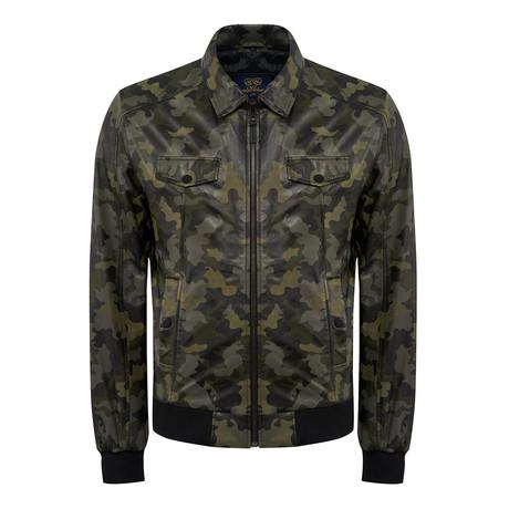 Gabriel Leather Jacket Slim // Camouflage (XL)