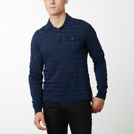 Atlantic Long Sleeve Pullover // Navy (S)