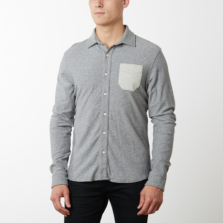 Perry Long Sleeve Shirt // Light Gray (S)