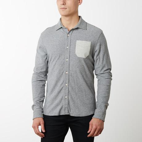 Perry Long Sleeve Shirt // Light Gray (S)