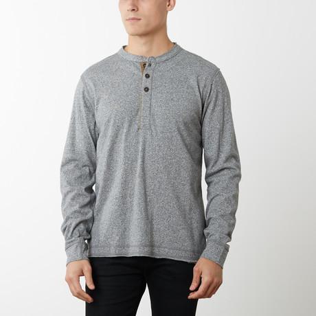 Pepper Long Sleeve Henley // Light Gray (S)