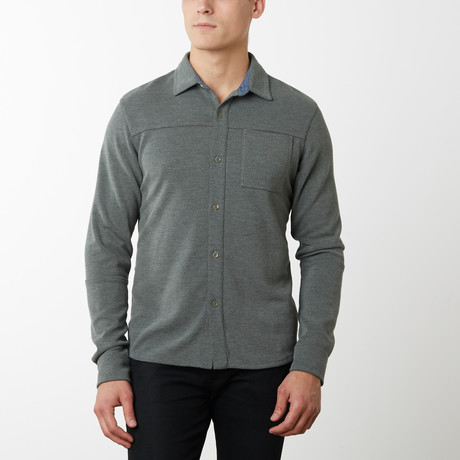 Byron Long Sleeve Shirt // Green (S)