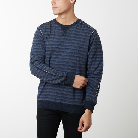 Pacific Long Sleeve Pullover // Stripe (S)