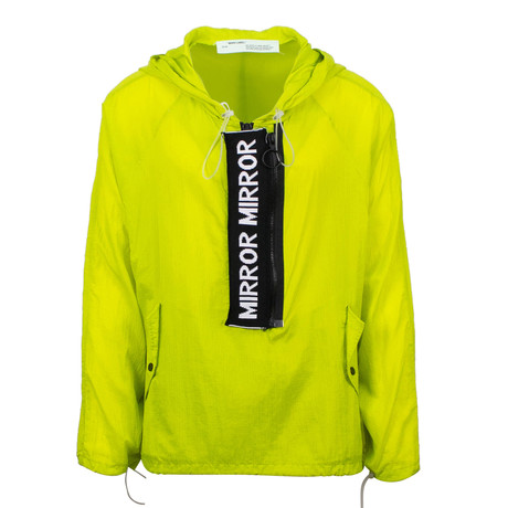 Off White //Mirror Mirror Anorak Rainwear Jacket // Green (XS)