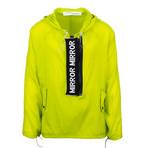 Off White //Mirror Mirror Anorak Rainwear Jacket // Green (M)