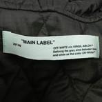 Off White // Men's Fishtail Parka Camo Hooded Parka Jacket // Green (XS)