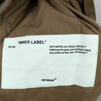 Off White // Men's Fishtail Parka Camo Hooded Parka Jacket // Green (M)