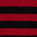Amiri // Striped Cotton Blend T-Shirt // Red + Black (S)