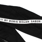 11 By Boris Bidjan Saberi // Logo + Type Track Jacket // Black + White (M)