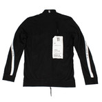 11 By Boris Bidjan Saberi // Logo + Type Track Jacket // Black + White (XS)