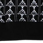 Marcelo Burlon // Kappa All Over Crew Neck Sweatshirt // Black + White (XL)