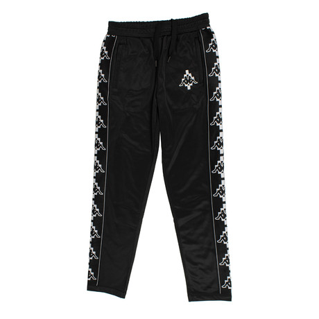 Marcelo Burlon // Kappa Tape Pants // Black + White (XS)