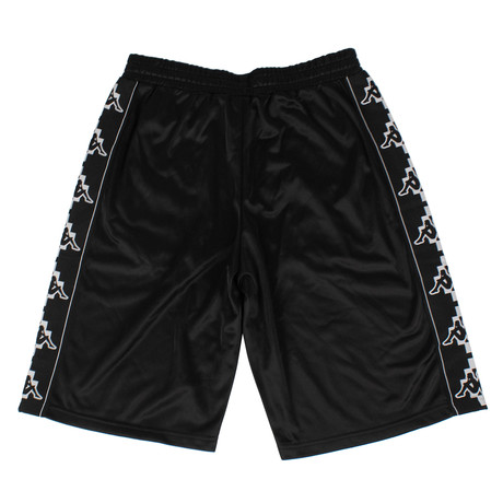 Marcelo Burlon // Kappa Tape Jersey Shorts // Black (XS)