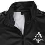 Marcelo Burlon // Kappa Gradient Jersey Track Jacket // Black + Red (XS)