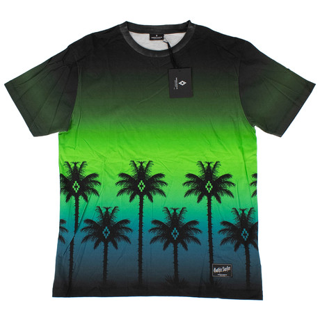 Marcelo Burlon // Palm Tree Short Sleeve T-Shirt // Green (XS)