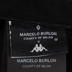 Marcelo Burlon // Kappa Light Wash Antifit Jeans // Black (28)