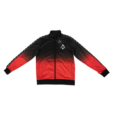 Marcelo Burlon // Kappa Gradient Jersey Track Jacket // Black + Red (XS)