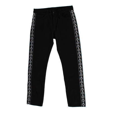 Marcelo Burlon // Kappa Light Wash Antifit Jeans // Black (28)