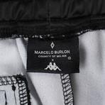 Marcelo Burlon // Kappa Gradient Jersey Pants // Black + Blue (2XL)