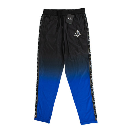 Marcelo Burlon // Kappa Gradient Jersey Pants // Black + Blue (XS)