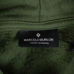 Marcelo Burlon // Wilon Cotton Hoodie Sweatshirt // Green (XS)