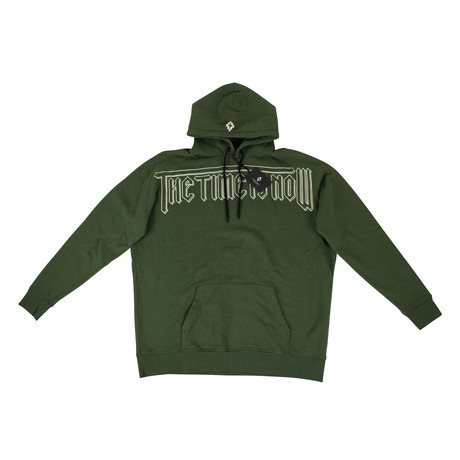 Marcelo Burlon // Wilon Cotton Hoodie Sweatshirt // Green (XS)