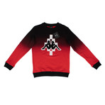 Marcelo Burlon // Kappa Big Logo Crew Neck Sweater // Black + Red (2XL)