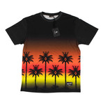 Marcelo Burlon // Palm Tree Short Sleeve T-Shirt // Red (XS)