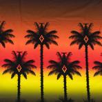 Marcelo Burlon // Palm Tree Short Sleeve T-Shirt // Red (S)