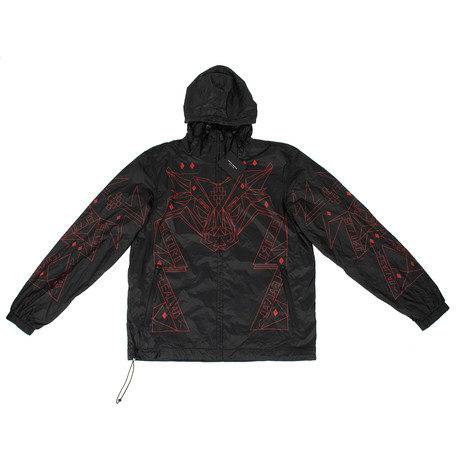 Marcelo Burlon // Lamborghini Windbreaker Jacket // Black (XS)