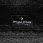 Marcelo Burlon // Plaid Button Down Sham Shirt // Black + Gray (XS)