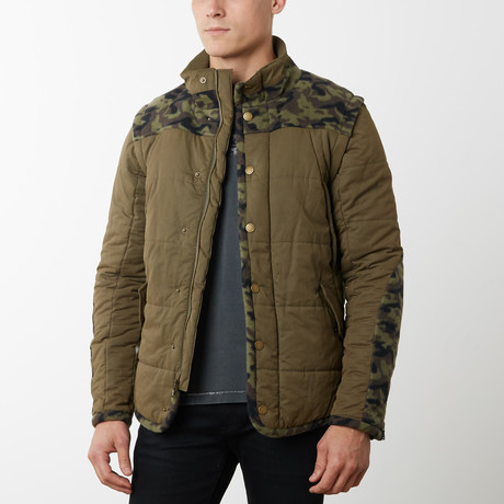 Mendicino Convertible Vest Jacket // Brown (S)
