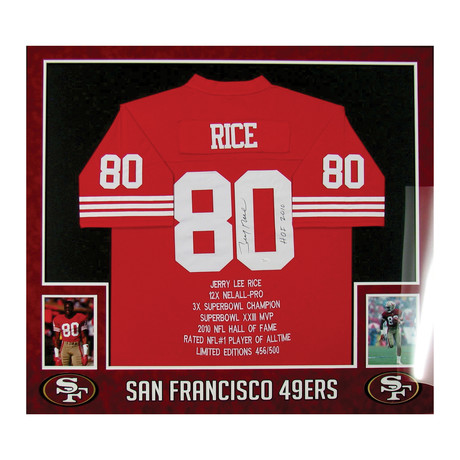 Signed Jersey // Jerry Rice